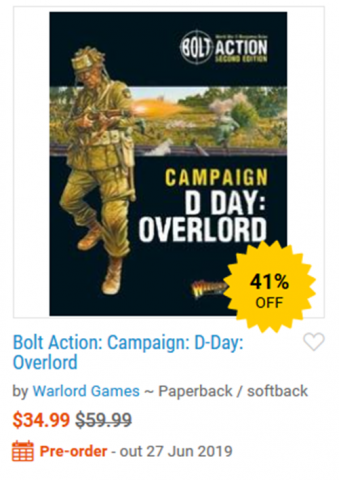 Bolt Action: Campaign: D-Day: Overlord new book reported